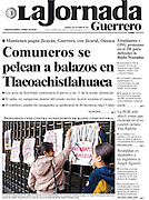 Cover photo for La Jornada Guerrero newspaper. October 2010.