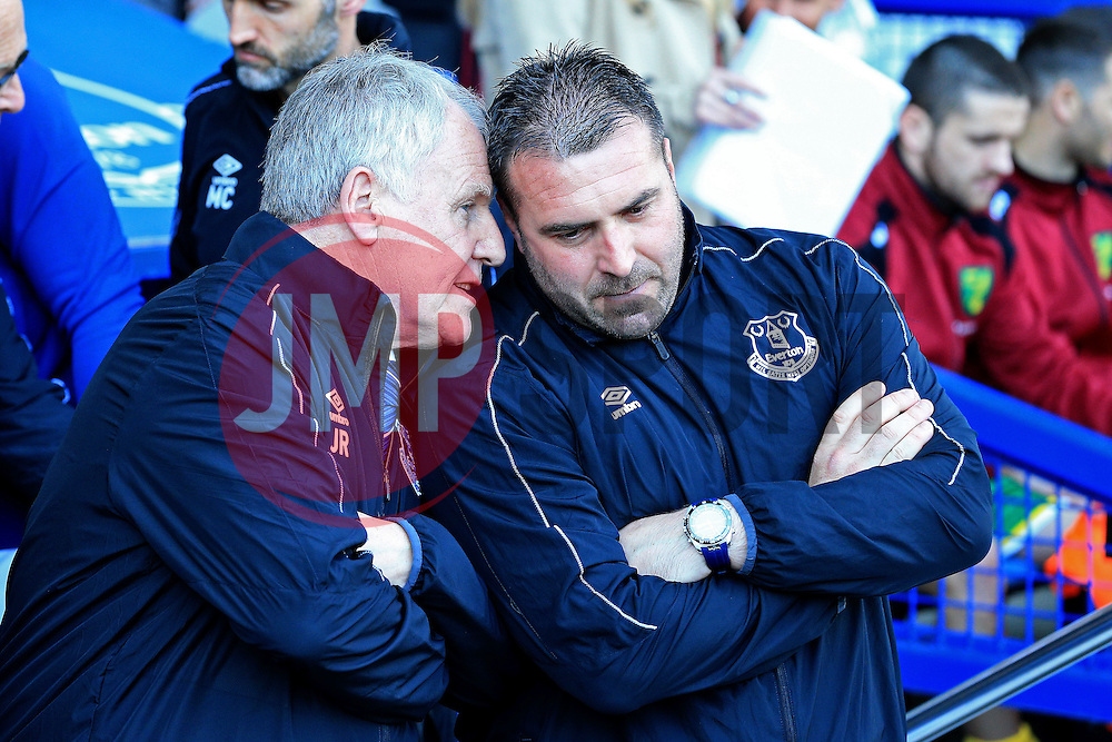 Everton Interim Manager's Joe Royle and David Unsworth - Mandatory byline: Matt McNulty/JMP - 15/05/2016 - FOOTBALL - Goodison Park - Liverpool, England - Everton v Norwich City - Barclays Premier League