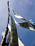Northern style banners at the entrance to Doi Tung Villa, the home of the Queen Mother, Mae Fah Luang.