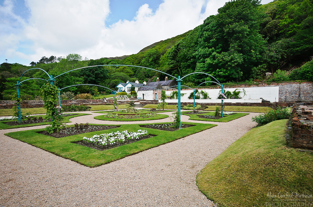 The walled gardens at Kylemore abbey are undergoing restoration by the nuns who live there.