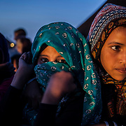 Sahrawi refugees during the annual Film Festival that is held at Dakhla refugees camp in the south of Algeria