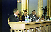 02/07/1990<br /> 07/02/1990<br /> 02 July 1990<br /> Nelson Mandela visits Ireland. With Taoiseach Charles Haughey at a press conference.
