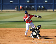 Mississippi shortstop Kevin Mort vs. Oakland in Oxford, Miss. on Friday, February 26, 2010. Ole Miss won 9-1.