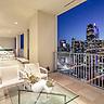 Modern high-rise penthouse condominium at One Arts Plaza, 1717 Arts Plaza, Dallas, Texas