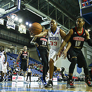 Delaware 87ers Forward JR Inman (33) battles Springfield Armor Guard Lance Hurdle (15) for the loose ball in the course of a NBA D-league regular season basketball game between the Delaware 87ers (76ers) and the Springfield Armor (Nets) Saturday, Dec. 28, 2013 at The Bob Carpenter Sports Convocation Center, Newark, DE