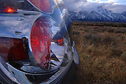 Nissan Maxima rental car during a trip to the Tetons in Wyoming