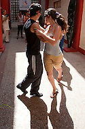 Salsa dancers at the Casa de Iberoamerica in Holguin, Cuba.