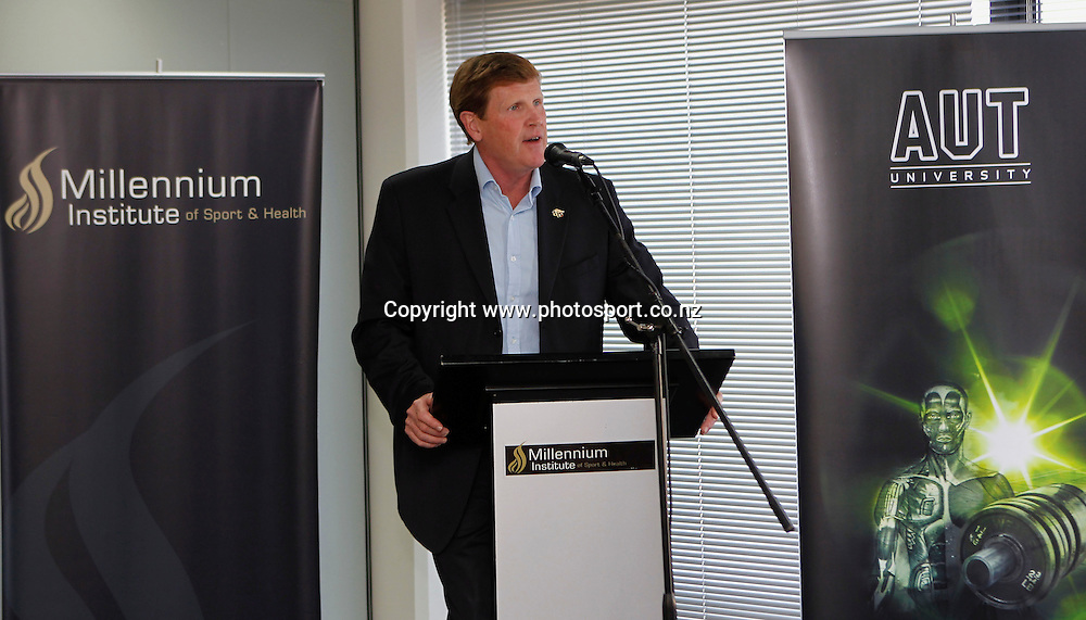 Millennium Institute of Sport & Health CEO Mike Stanley. Millennium Recognition of Excellence Awards, Millennium Institute of Sport & Health, Mairangi Bay, Wednesday 1st December 2010. Photo: Shane Wenzlick / www.photosport.co.nz