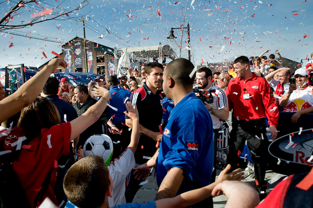 Inauguration of the Redbulls Arena in Harrison, New Jersey. The New York Redbulls beat Brazilian Santos...Photographer: Chris Maluszynski /MOMENT