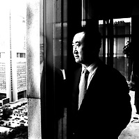 BEIJING, MAY 25, 2012 : Wang Jianlin, CEO of Wanda group and China's sixth-richest man , at his office in Beijing. <br />