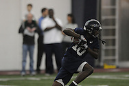 Vincent Sanders (10) makes a catch during Ole Miss' spring practice at the IPF in Oxford, Miss. on Monday, March 28, 2011.