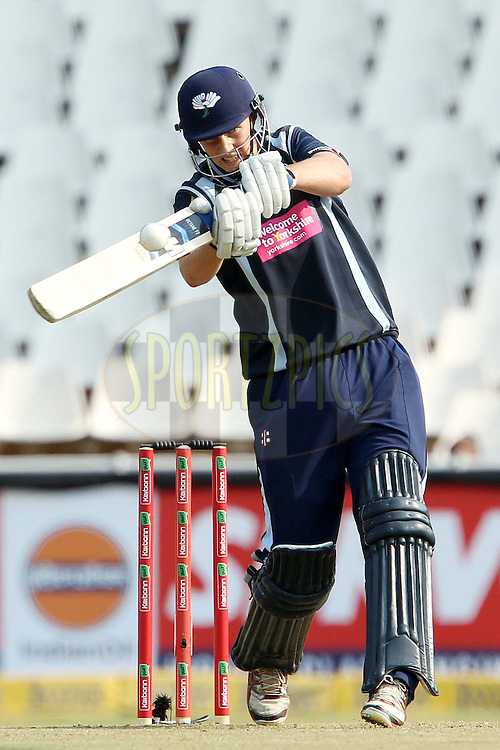 Joe Root during 1st Qualifying match of the Karbonn Smart CLT20 South Africa between Uva Next and Yorkshire held at The Wanderers Stadium in Johannesburg, South Africa on the 9th October 2012..Photo by Ron Gaunt/SPORTZPICS/CLT20