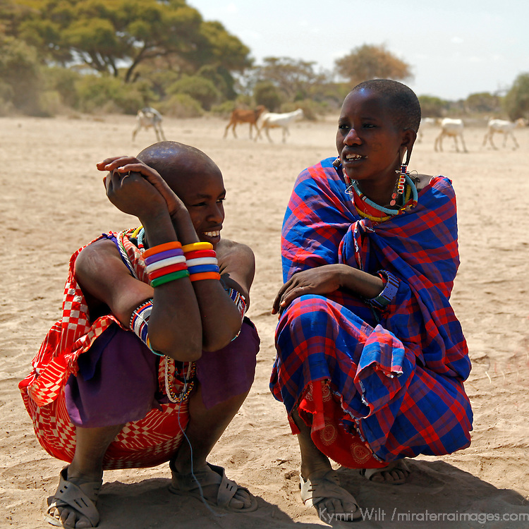 Africa, Kenya, Amboseli. Maasai of Amboseli