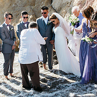 Shauna Dobbs and Paul Jackson El Matador Beach Wedding Malibu