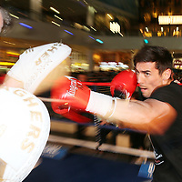 Anthony Crolla during the workout