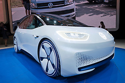 New Volkswagen ID electric plug-in concept vehicle at Paris Motor Show 2016