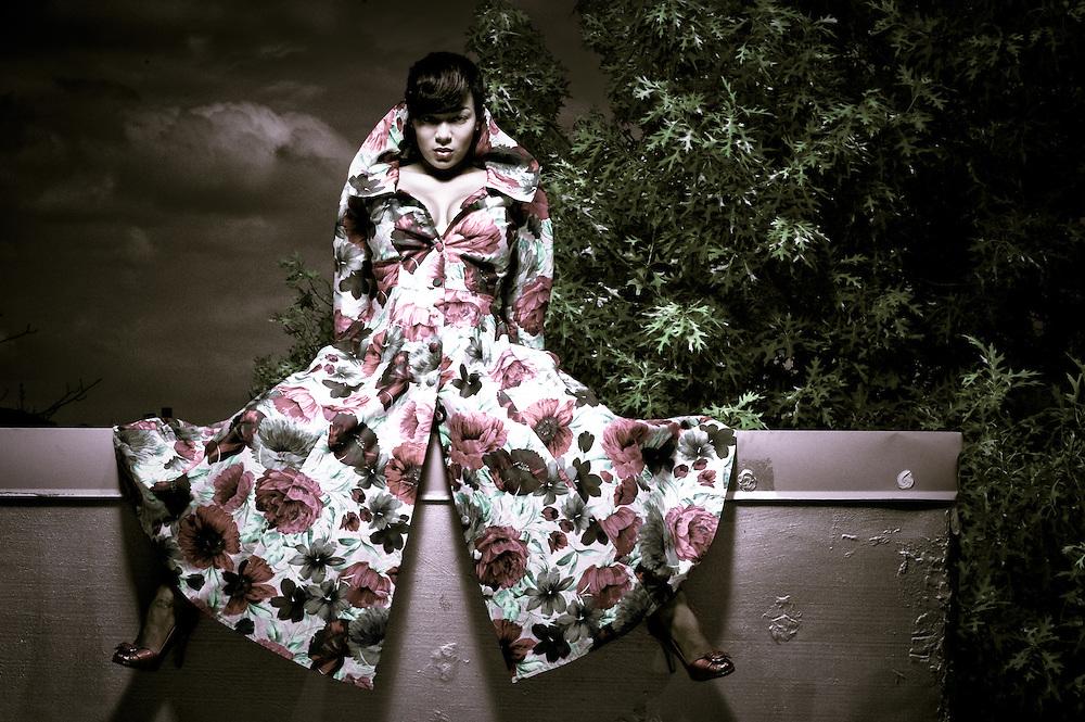"""Diamond Floral"" Model/Makeup:  Diamond Chante; Stylist:  Aisha Keys"