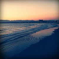 Sunset at the penisula at Venice Beach