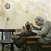 Tailor at work in Cairo, Egypt