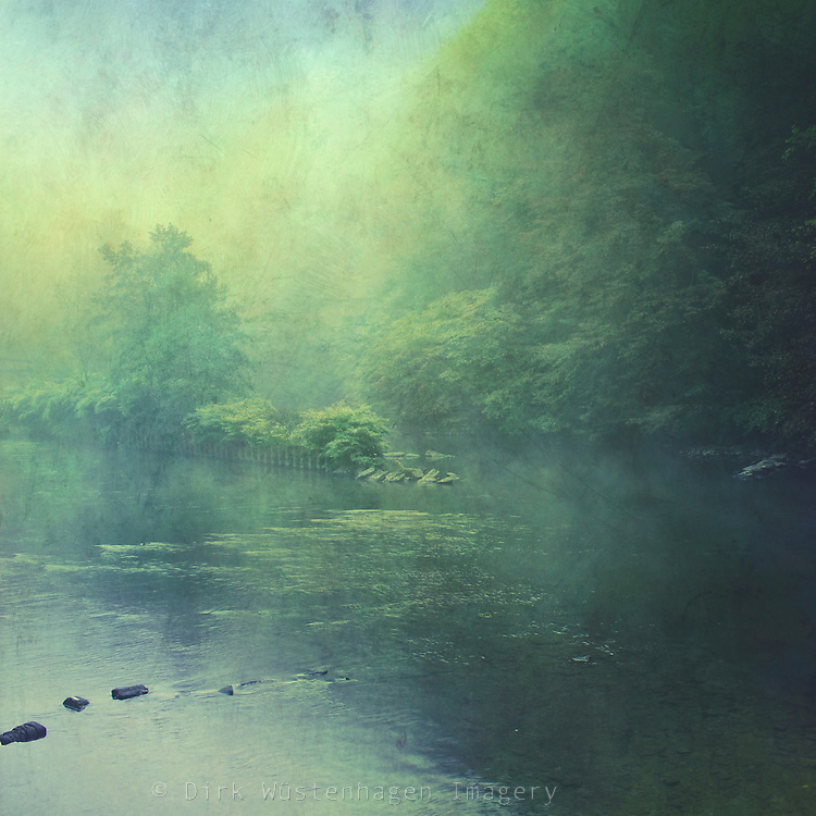Morning haze over river Wupper, Germany<br /> <br /> Morgennebel &uuml;ber der Wupper, Br&uuml;ckenpark M&uuml;ngsten.<br /> <br /> Society6 prints &amp; more: http://society6.com/DirkWuestenhagenImagery/mystic-haze_Print