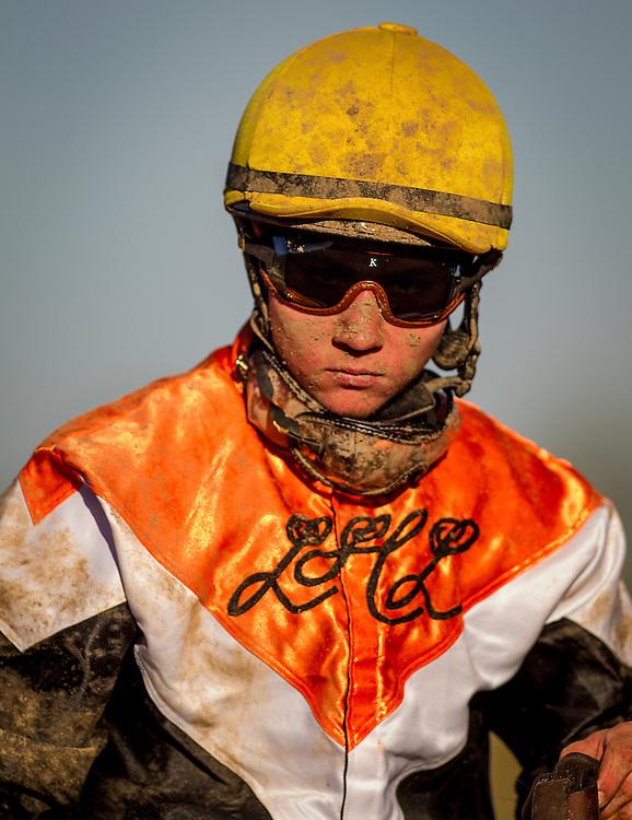 September 26 2015: Jockey, Drayden Van Dyke at Santa Anita Park, Arcadia CA. Alex Evers/ESW/CSM