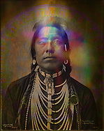Illuminated photograph  of Thunder Cloud.<br />