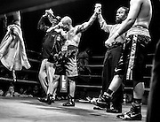 """Jamie """"The Pitbull"""" Walker becomes emotional after learning of his victory over Alejandro Hernandez. Walker won the rematch by majority decision on November 25, 2015."""