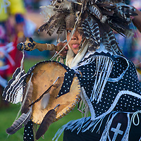 MARIPOSA ,USA - MAY 11 : Unidentified Native Indian boy takes part at the Mariposa 20th annual Pow Wow in California , USA on May 11 2013 ,Pow wow is native American cultural gathernig event.