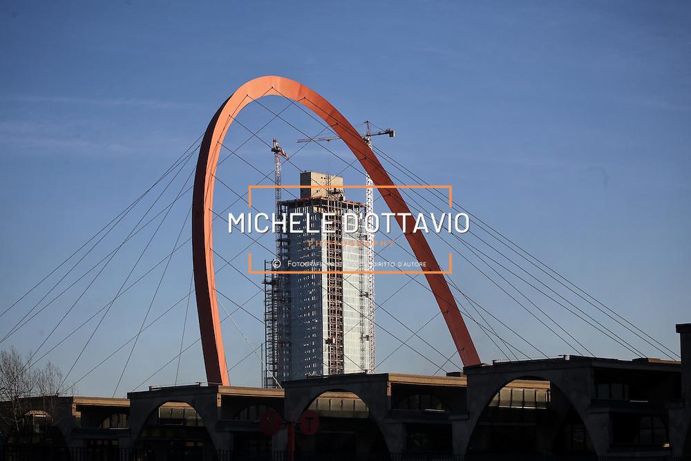 Torre Regione Piemonte, Cantiere della futura sede della Regione Piemonte nel quartiere Lingotto. Torino 9 febbraio 2015