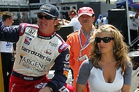 Buddy Rice and wife, Michelle, at the Twin Ring Motegi, Japan Indy 300, April 30, 2005