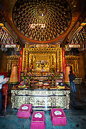 A shrine at the Wenwu Temple at Sun Moon Lake, Taiwan.