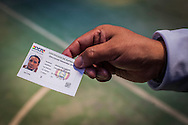 Rodolfo Rodrigues show his voting certificate that proves that he already cast his vote. Without it Bolivians are fine and can't do bank tranfers. Casting vote in Bolivia is mandatory. On Sunday, 12th October, President Evo Morales was re-elected for a third term by a majority of 60% and will turn into the longest serving President of the country if he finishes is mandate in 2020.