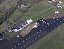 Image &copy;Licensed to i-Images Picture Agency. Aerial views. United Kingdom.<br /> Biggin Hill airport. Picture by i-Images