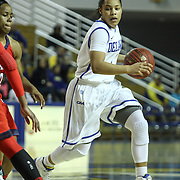 Delaware Guard Erika Brown (3) drives to the basket in the first half of a NCAA regular season non-conference game between Delaware (CAA) and St. John's (Big East) Monday, Dec 30, 2013 at The Bob Carpenter Sports Convocation Center in Newark Delaware.