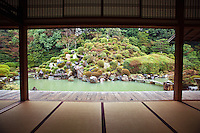 "Chishakuin Temple is the headquarters of the Chisan School of Shingon Buddhism.  Its garden was inspired by the area around Mt Lushan in China (""Rozen"" in Japanese) and its beauty changes with the seasons. The temple itself is has several National Treasures of Japan, wall paintings and decorative screen paintings."