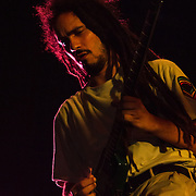 Eduardo from the Reggae band i-KRONIK performs on stage during The 19th Annual Bob Marley People's Festival Saturday July 27, 2013, at Tubman-Garrett Riverfront Park in Wilmington Delaware.
