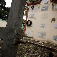 Crypts of street children occupy a mausoleum in a cemetery in Ciudad Vieja, near Antigua.