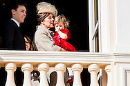 19-11-2016 - MONACO - Princess Charlene of Monaco with Princess Gabriela and Prince Albert II of Monaco with Prince Jacques . The National Day of Monaco also known as The Sovereign Prince's Day is currently annually celebrated on 19 November.  Louis Ducruet, Princess Stephanie of Monaco, Princess Caroline of Hanover, India Casiraghi and Andrea Casiraghi COPYRIGHT ROBIN UTRECHT<br /> <br /> 19-11-2016 - MONACO - Prinses Charlene van Monaco met Prinses Gabriela en Prins Albert II van Monaco met Prins Jacques. De Nationale Dag van Monaco ook bekend als The Sovereign Prinsjesdag wordt momenteel jaarlijks gevierd op 19 november. COPYRIGHT ROBIN UTRECHT
