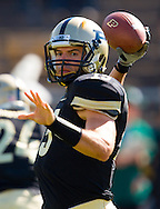 WEST LAFAYETTE, IN - SEPTEMBER 15:  Quarterback Rob Henry #15 of the Purdue Boilermakers warms up before the game against the Eastern Michigan Eagles at Ross-Ade Stadium on September 15, 2012 in West Lafayette, Indiana. (Photo by Michael Hickey/Getty Images)***Local Caption***Rob Henry
