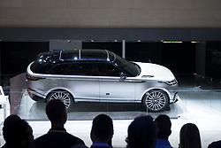 New Land Rover Velar luxury SUV on launch day at Geneva International Motor Show 2017