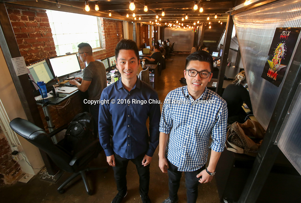 Mike Zhang, right, and Andrew Tsai, co-founders of Drip Club.(Photo by Ringo Chiu/PHOTOFORMULA.com)<br /> <br /> Usage Notes: This content is intended for editorial use only. For other uses, additional clearances may be required.