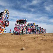 Cadillac Ranch in Armarillo, Texas near Route 66. .A September 2011 Route 66 trip, section 2,  from Joplin, Missouri to San Jon, New Mexico.