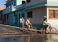 Bicycling in Cardenas, Matanzas, Cuba.