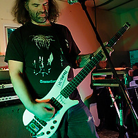 Thrones performing at Death by Audio on May 22, 2008. .The band is the solo project of bassist Joe Preston..