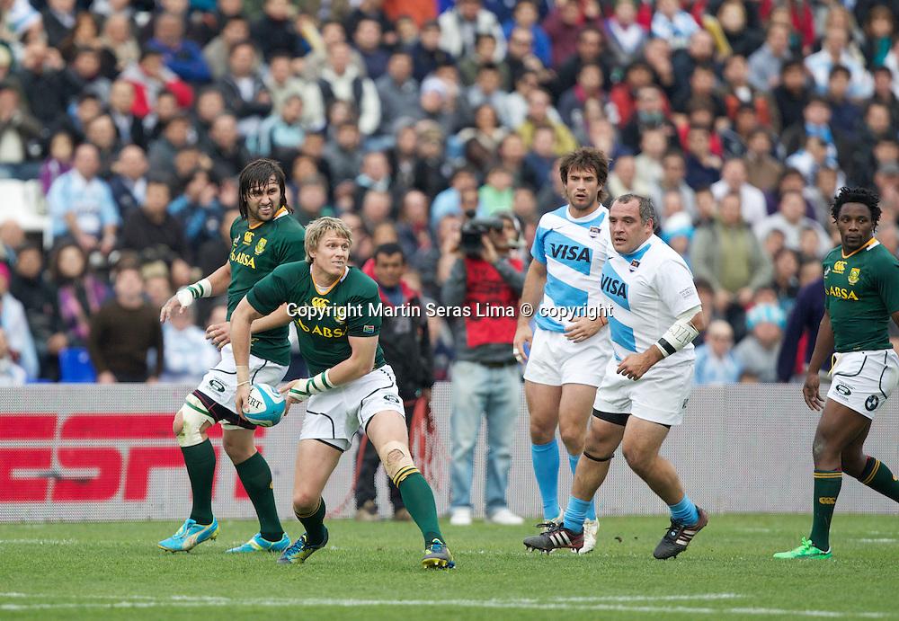 Jean de Villiers - Argentina v South Africa at Estadio  Malvinas Argentinas - Mendoza - Argentina - The Rugby Championship 2012 -Photo Martin Seras Lima