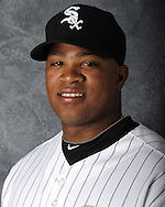 GLENDALE, AZ - MARCH 03: Dayan Viciedo of the Chicago White Sox poses for his official team headshot during photo day on March 3, 2012 at The Ballpark at Camelback Ranch in Glendale, Arizona. (Photo by Ron Vesely)   Subject:   Dayan Viciedo