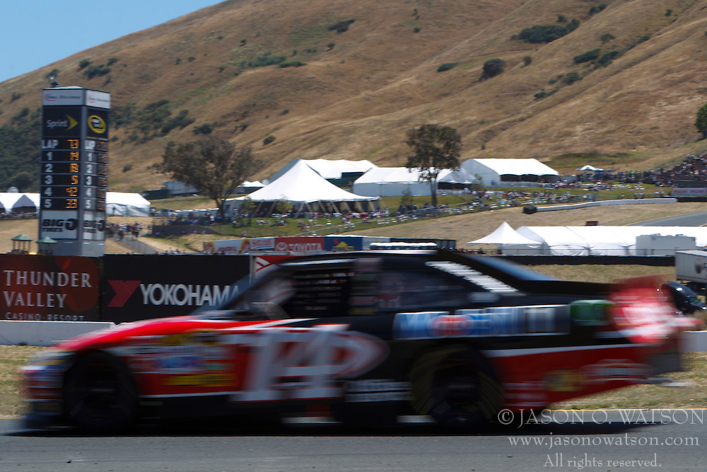 June 26, 2011; Sonoma, CA, USA;  NASCAR Sprint Cup Series driver Tony Stewart (14) during the Toyota/Save Mart 350 at Infineon Raceway.