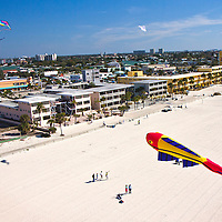 Kitefest from a kite's perspective, photographed using kite aerial photography. Treasure Island Kite Festival, Treasure Island, FL