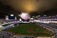 The Minnesota Twins put on a fireworks display after their game against the Milwaukee Brewers on July 1, 2011 at Target Field in Minneapolis, Minnesota.