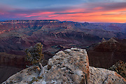Sunrise at Grand Canyon National Park.